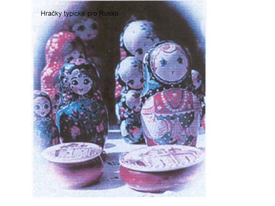 Hračky typické pro Rusko
