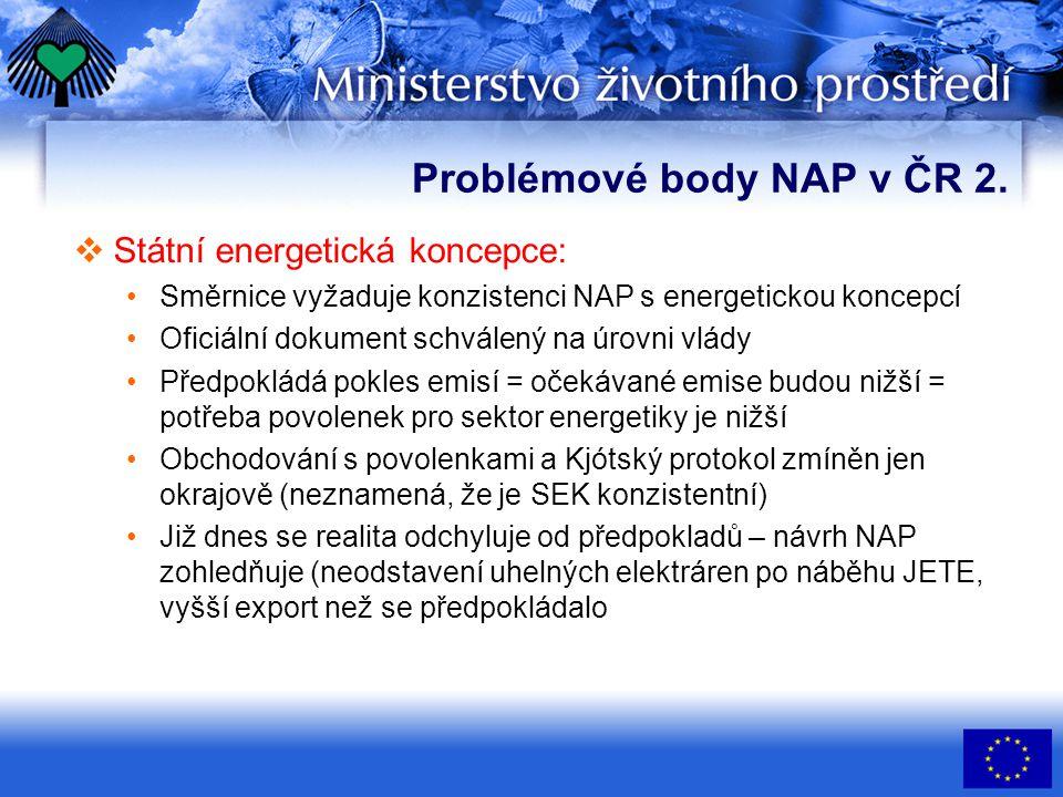 Problémové body NAP v ČR 3.