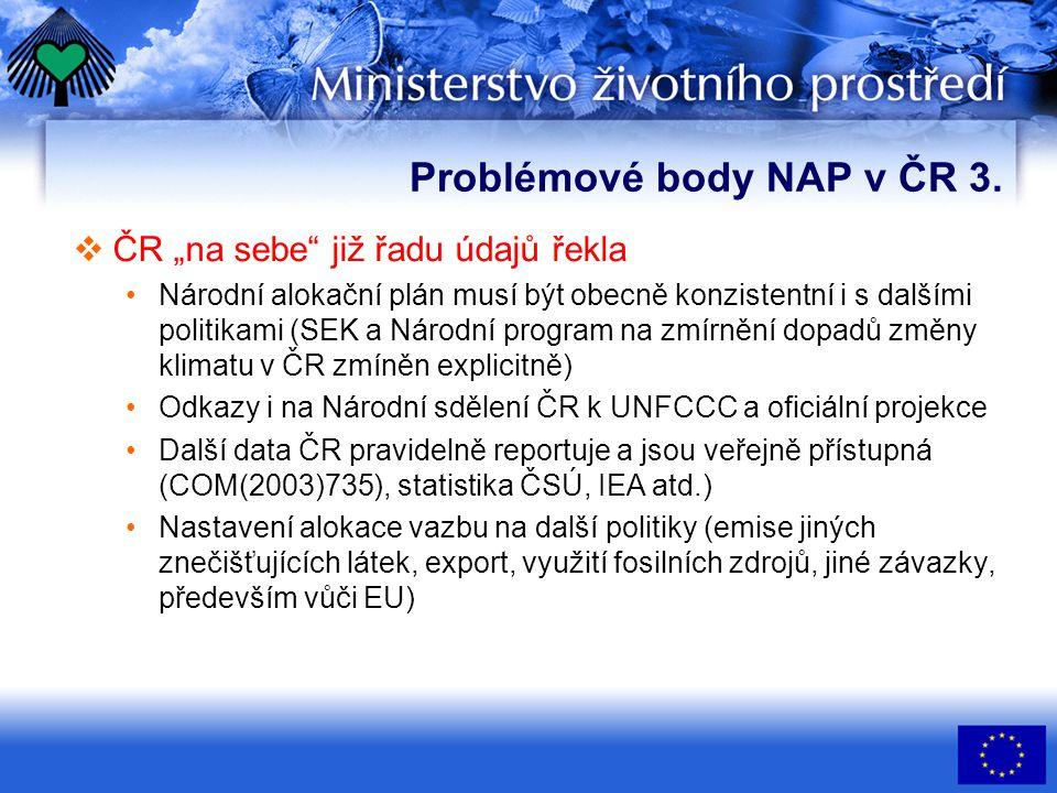 Problémové body NAP v ČR 4.