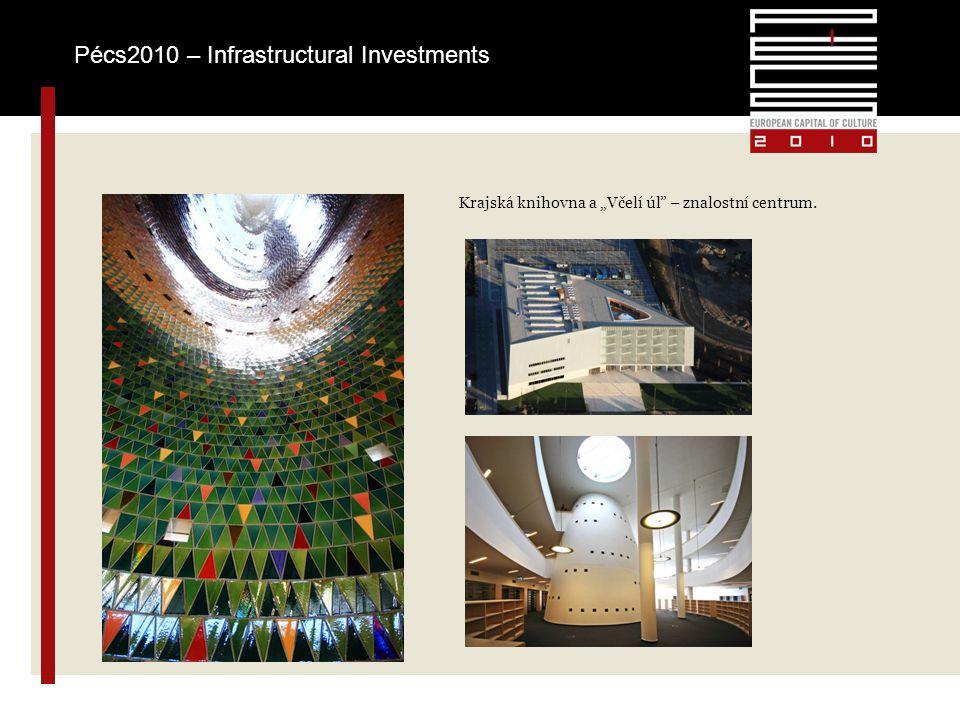 """Krajská knihovna a """"Včelí úl – znalostní centrum. Pécs2010 – Infrastructural Investments"""
