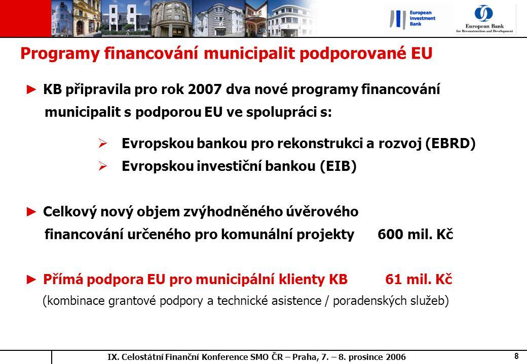 IX. Celostátní Finanční Konference SMO ČR – Praha, 7.