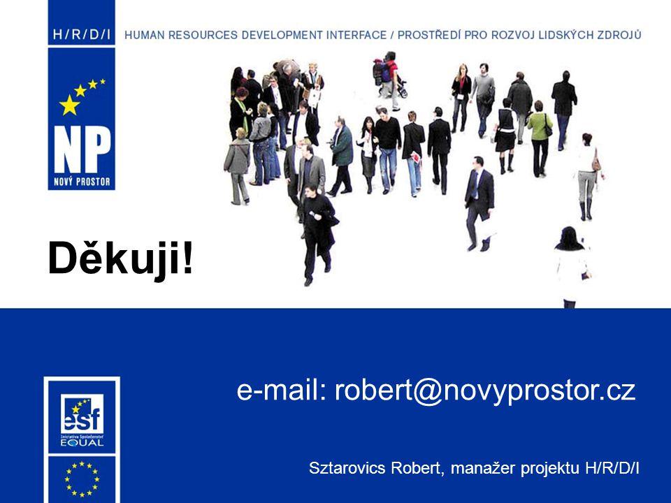 Děkuji! Sztarovics Robert, manažer projektu H/R/D/I e-mail: robert@novyprostor.cz