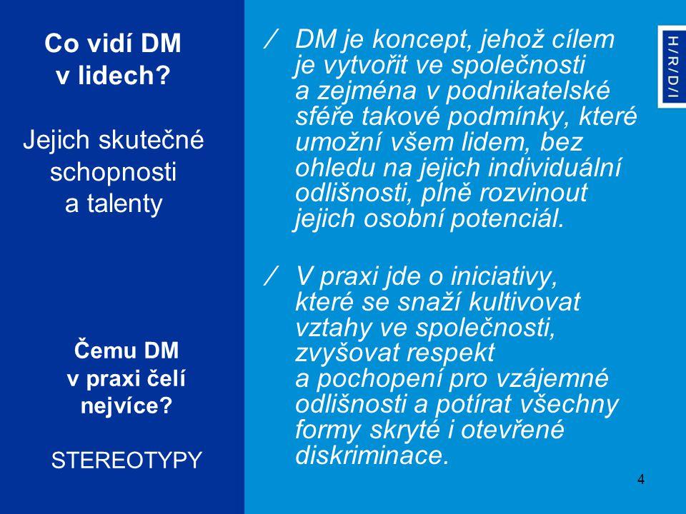 4 Co vidí DM v lidech? Jejich skutečné schopnosti a talenty ∕DM je koncept, jehož cílem je vytvořit ve společnosti a zejména v podnikatelské sféře tak