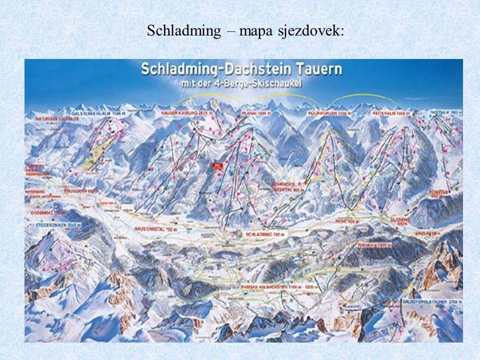 Schladming – mapa sjezdovek: