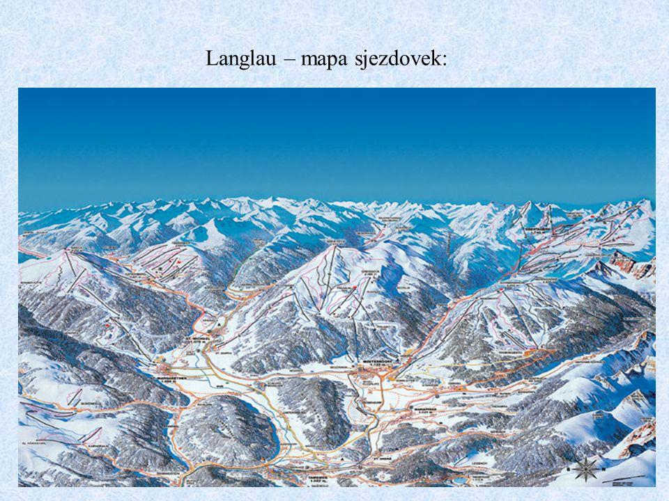 Langlau – mapa sjezdovek: