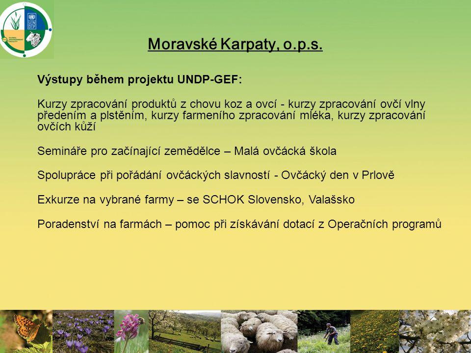 Moravské Karpaty, o.p.s. Výstupy během projektu UNDP-GEF: Kurzy zpracování produktů z chovu koz a ovcí - kurzy zpracování ovčí vlny předením a plstění