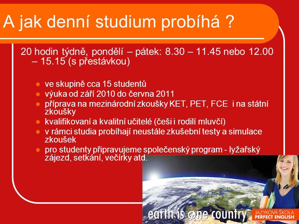 Důležité informace akreditace MŠMT ČR - zařazení do vyhlášky Ministerstva školství, mládeže a tělovýchovy zajistí Vám statut studenta, tzn.