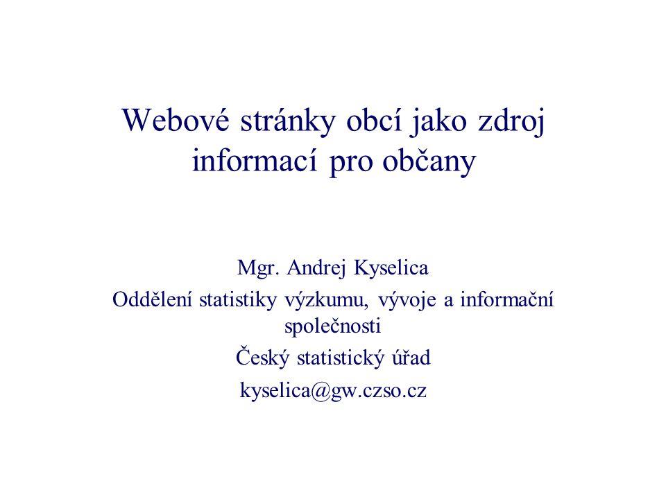 Webové stránky obcí jako zdroj informací pro občany Mgr.