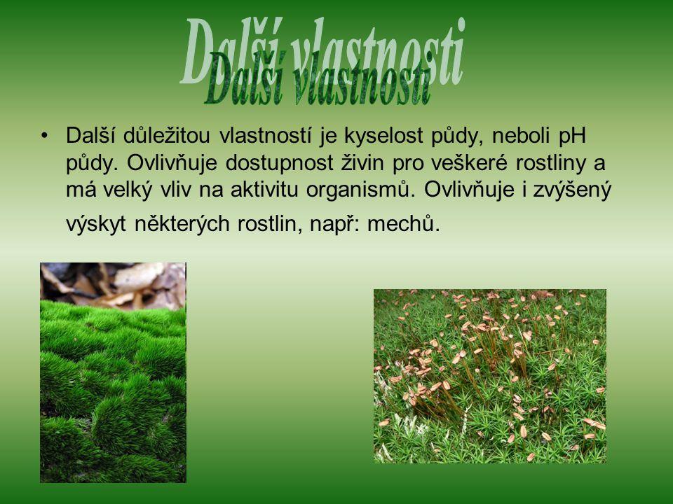 Další důležitou vlastností je kyselost půdy, neboli pH půdy.