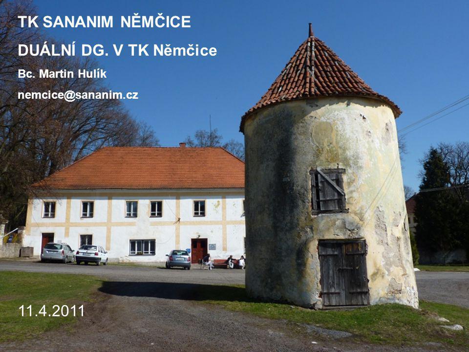 TK SANANIM NĚMČICE DUÁLNÍ DG. V TK Němčice Bc. Martin Hulík nemcice@sananim.cz 11.4.2011
