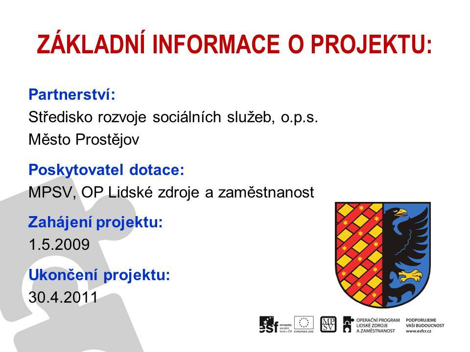 Přípravná fáze projektu (2007 – 2009) Analytická fáze projektu (05/2009 – 12/2009) Tvorba komunitního plánu, akční plán realizace (01/2010 – 09/2010) Nastartování implementační fáze (11/2010 - 03/2011) Dokončovací práce projektu (03/2011 – 04/2011) FÁZE PROJEKTU: