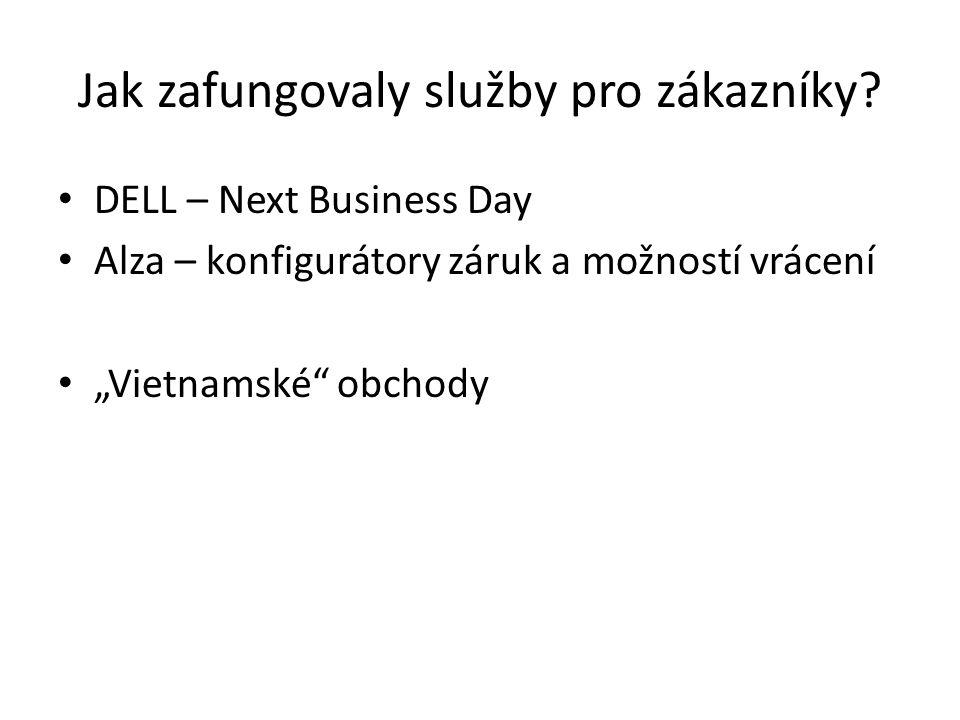 """Jak zafungovaly služby pro zákazníky? DELL – Next Business Day Alza – konfigurátory záruk a možností vrácení """"Vietnamské"""" obchody"""