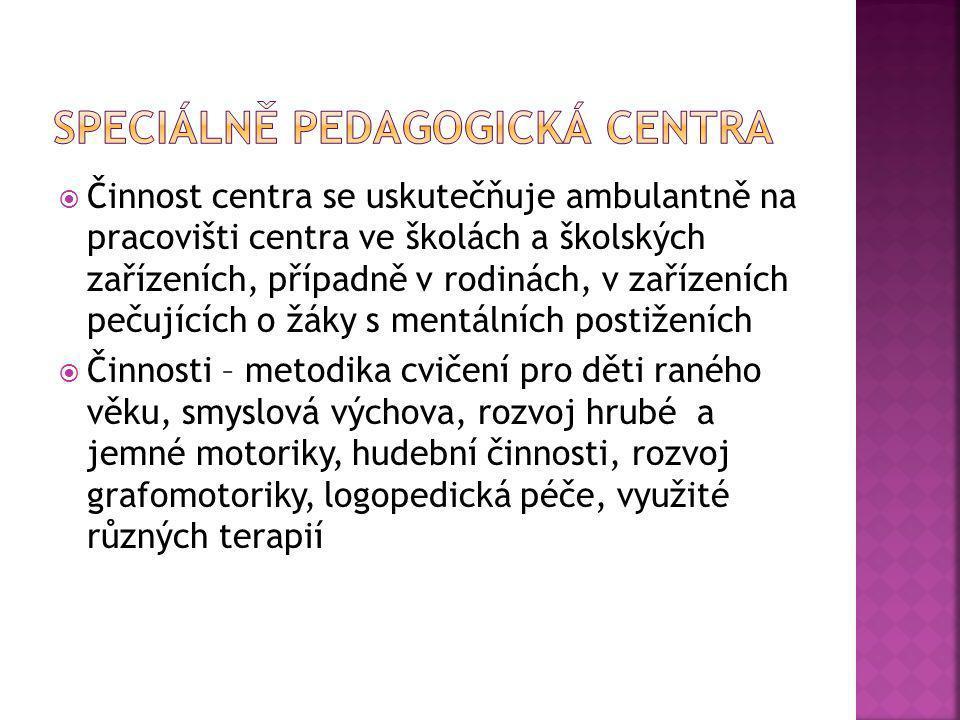 od 3 do 6/7 let dítěte (Školský zákon 561/2004 Sb., Vyhláška č.