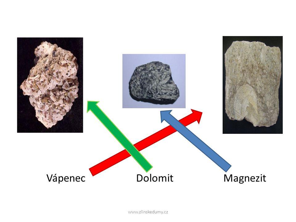 www.zlinskedumy.cz Vápenec Dolomit Magnezit