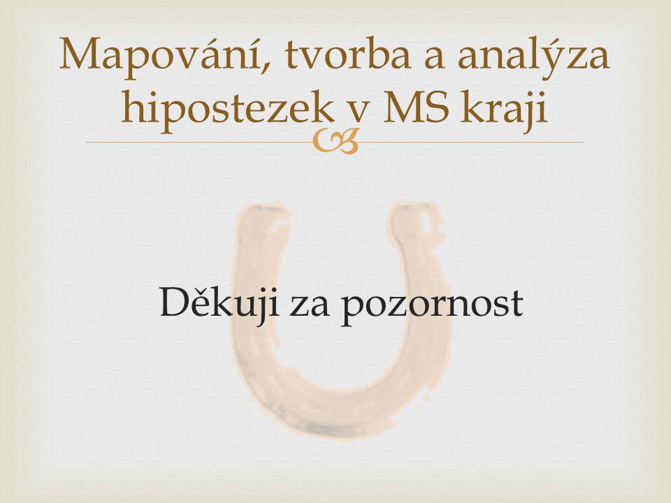  Děkuji za pozornost Mapování, tvorba a analýza hipostezek v MS kraji