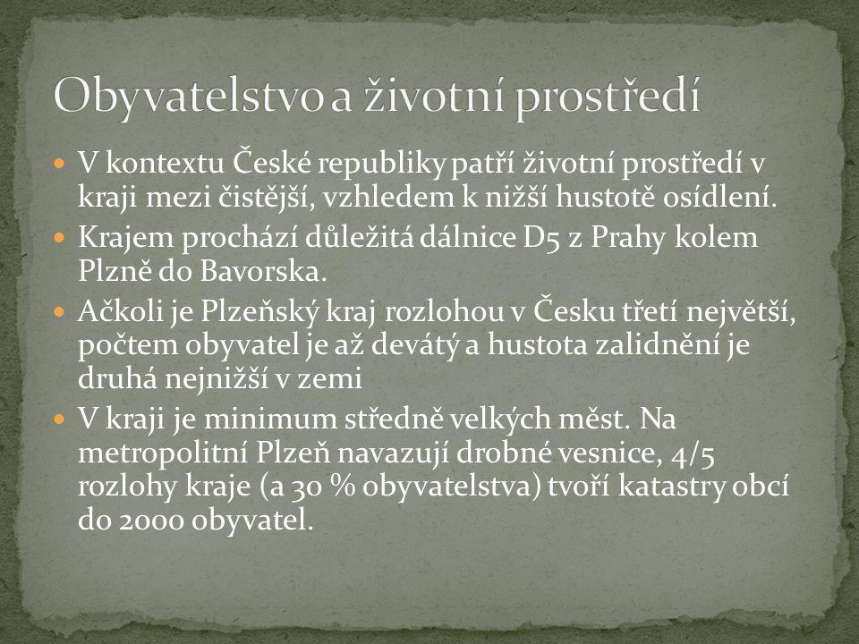 V kontextu České republiky patří životní prostředí v kraji mezi čistější, vzhledem k nižší hustotě osídlení. Krajem prochází důležitá dálnice D5 z Pra