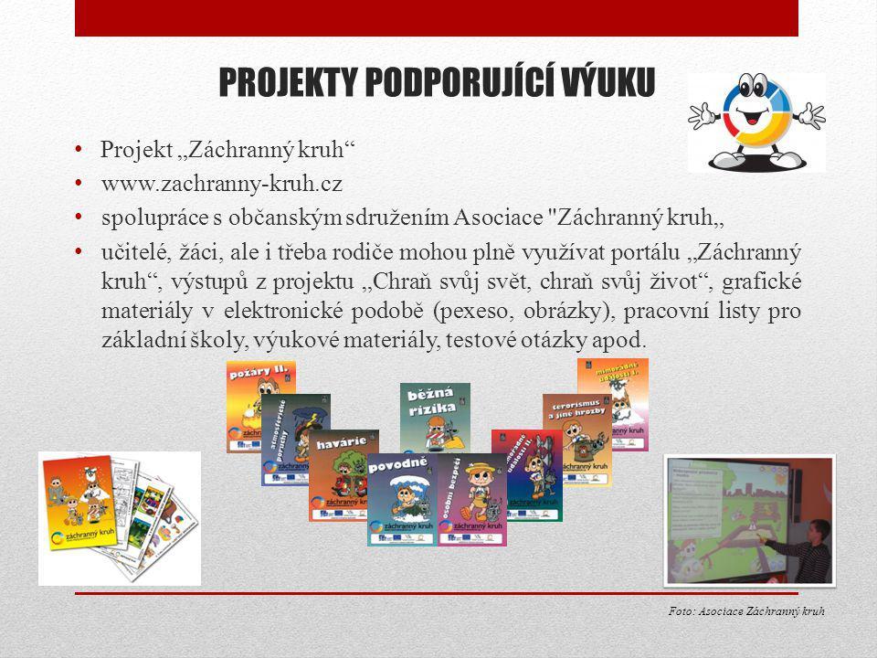 """PROJEKTY PODPORUJÍCÍ VÝUKU Projekt """"Záchranný kruh"""" www.zachranny-kruh.cz spolupráce s občanským sdružením Asociace"""