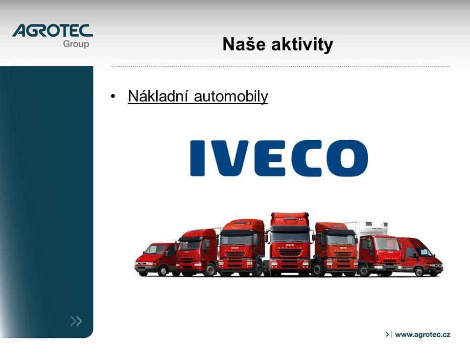 Naše aktivity Nákladní automobily