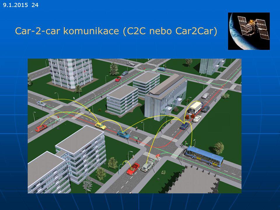 9.1.2015 24 Car-2-car komunikace (C2C nebo Car2Car)
