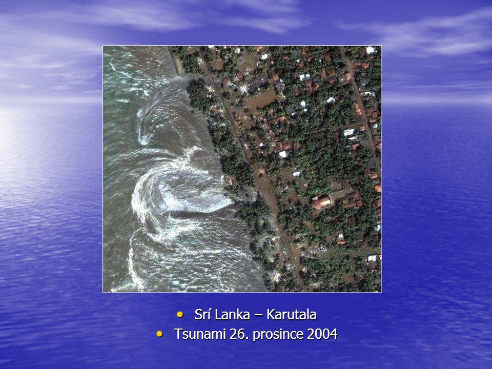 Rychlost tsunami Rychlost tsunami je větší, čím hlubší je oceán v místě jejího vzniku Rychlost tsunami je větší, čím hlubší je oceán v místě jejího vzniku Největší naměřená rychlost byla nesmírně vysoká, až kolem 1000 km/h Největší naměřená rychlost byla nesmírně vysoká, až kolem 1000 km/h Většinou se tsunami pohybuje rychlostí okolo 400-500 km/h Většinou se tsunami pohybuje rychlostí okolo 400-500 km/h Ale i to je moc!