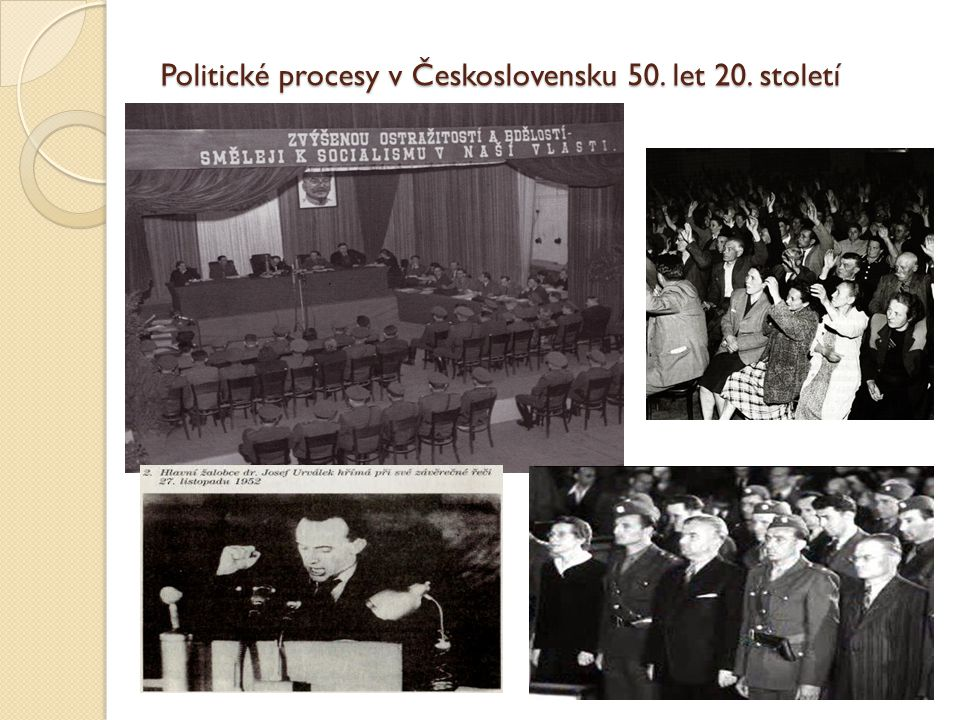 Politické procesy znamenaly vyvrcholení, nejvyšší formu při pronásledování nepřátel režimu, odpůrců nové politické linie, označovanými nejrůzněji jako třídní nepřátelé, agenti imperialismu, kulaci atp.