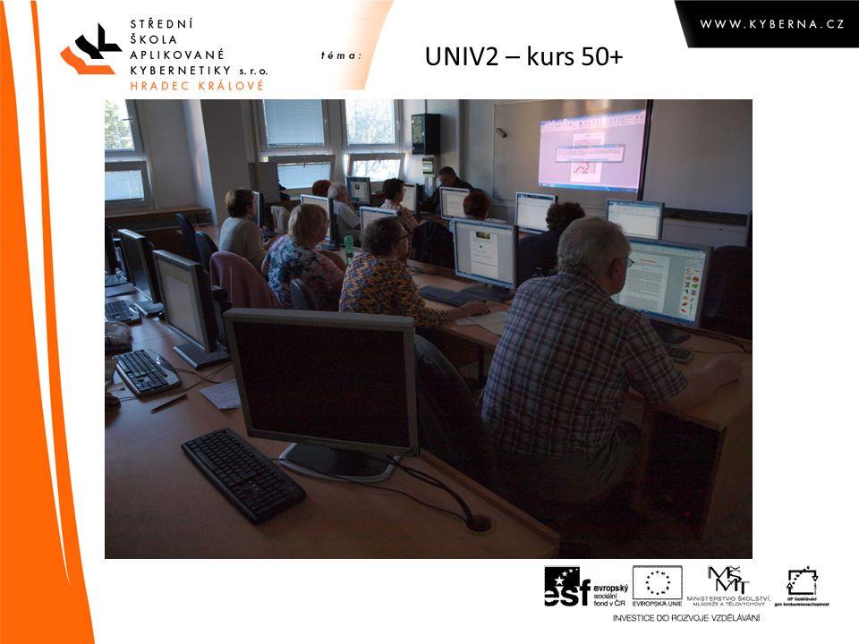 UNIV2 – kurs 50+ Pohled do učebny