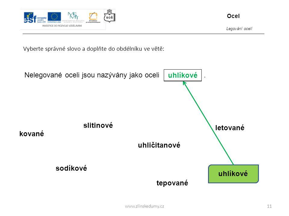 www.zlinskedumy.cz11 objemu kované sodíkové slitinové tepované uhličitanové uhlíkové Nelegované oceli jsou nazývány jako oceli. letované Vyberte správ