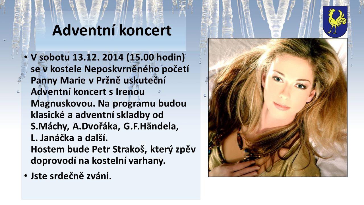 Adventní koncert V sobotu 13.12.