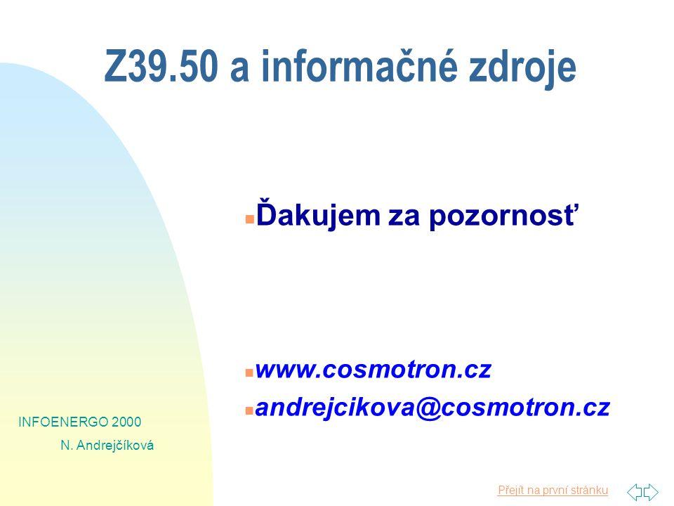 Přejít na první stránku INFOENERGO 2000 N.