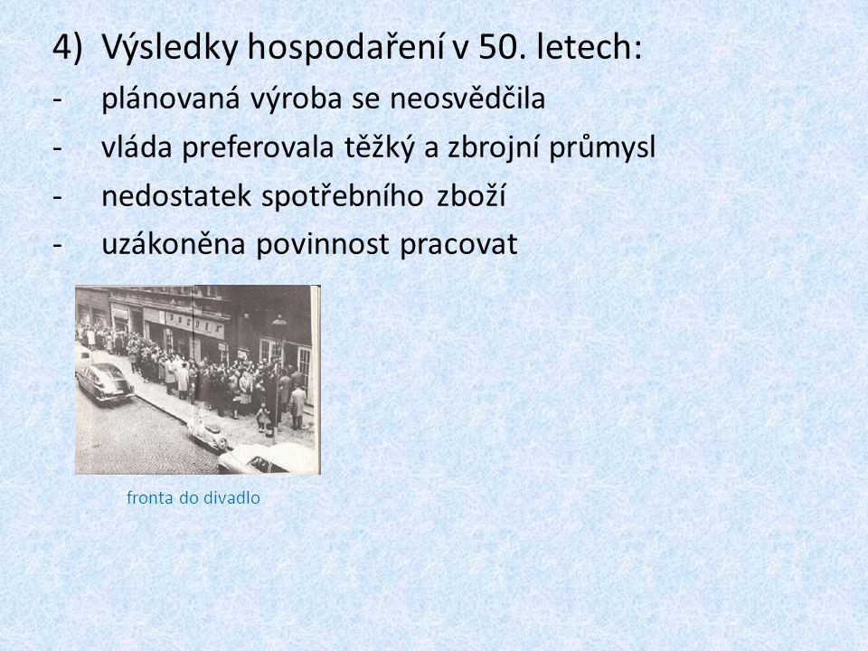 4)Výsledky hospodaření v 50.