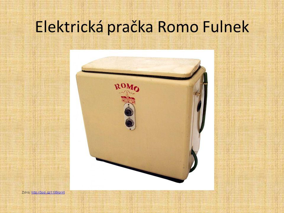 Elektrická pračka Romo Fulnek Zdroj: http://3pol.cz/1199/printhttp://3pol.cz/1199/print