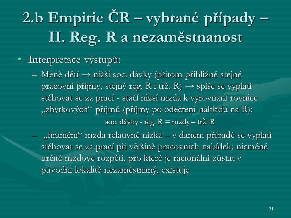21 2.b Empirie ČR – vybrané případy – II. Reg.