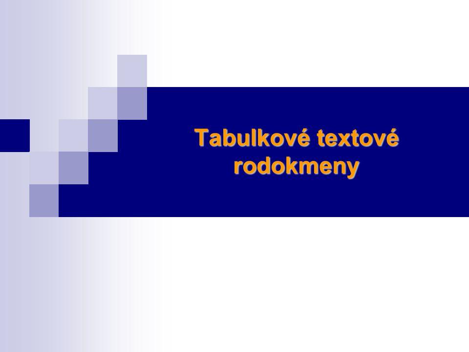 Tabulkové textové rodokmeny