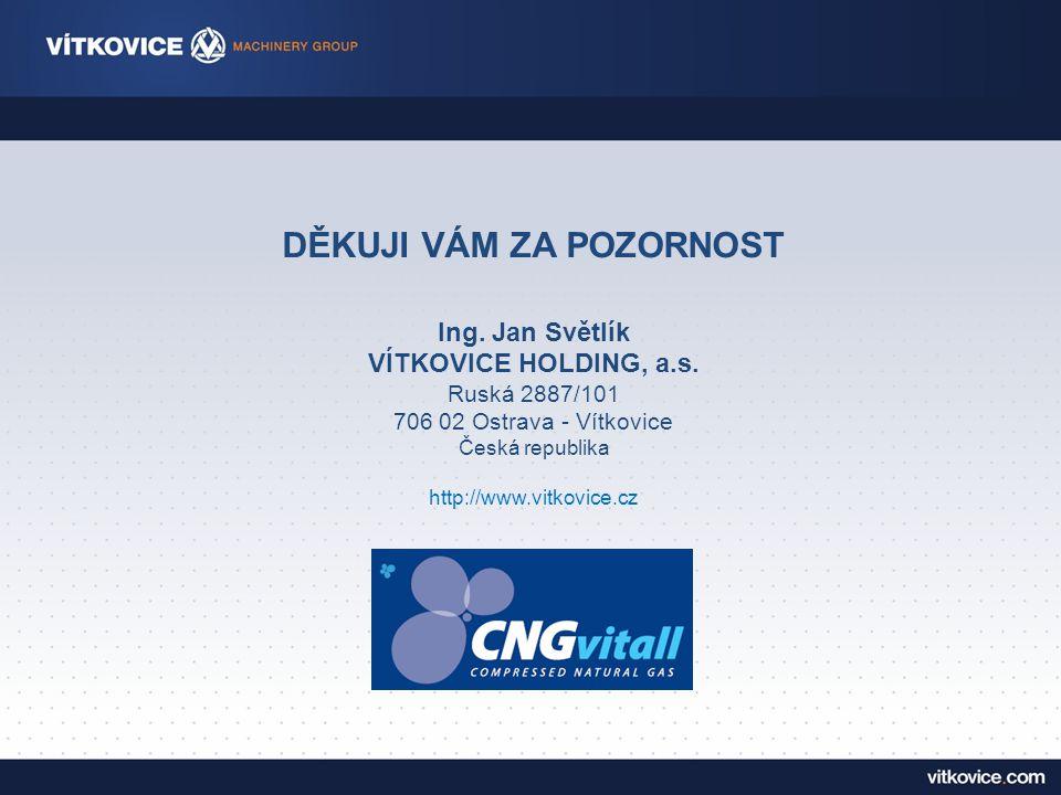 DĚKUJI VÁM ZA POZORNOST Ing.Jan Světlík VÍTKOVICE HOLDING, a.s.