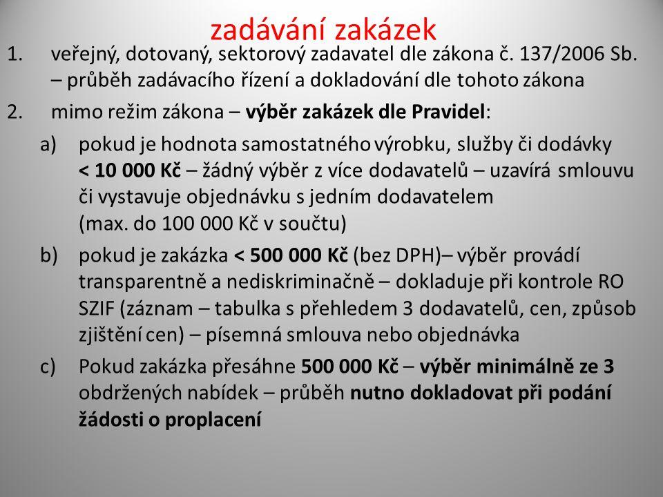 zadávání zakázek 1.veřejný, dotovaný, sektorový zadavatel dle zákona č.