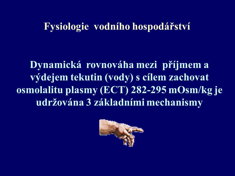 Renální diabetes insipidus Primární onemocnění: těžké dehydratace s hypernatremií a hyperpyrexií v kojeneckém věku.
