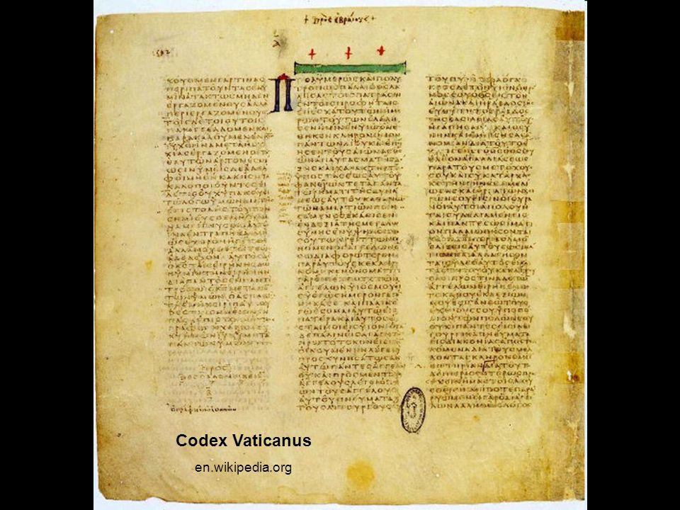 Codex Vaticanus en.wikipedia.org