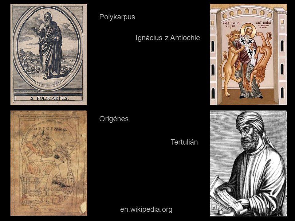 en.wikipedia.org Polykarpus Origénes Ignácius z Antiochie Tertulián