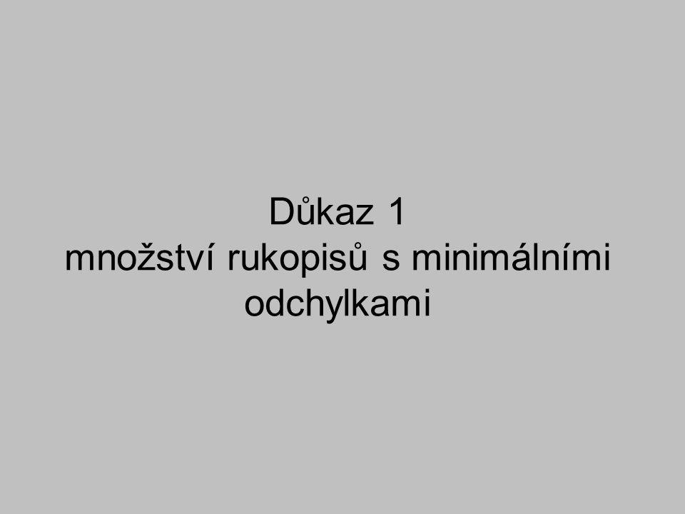 1) Počet rukopisů - Zachované...