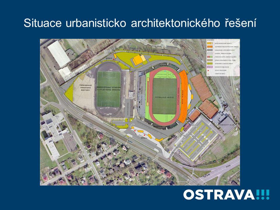 Situace urbanisticko architektonického řešení