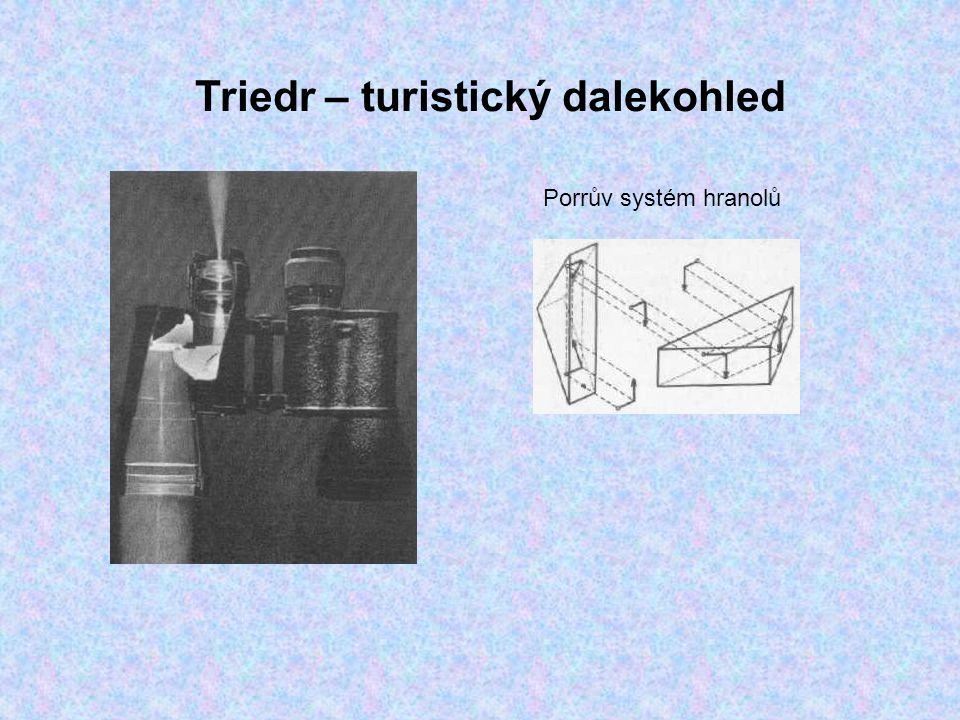Triedr – turistický dalekohled Porrův systém hranolů