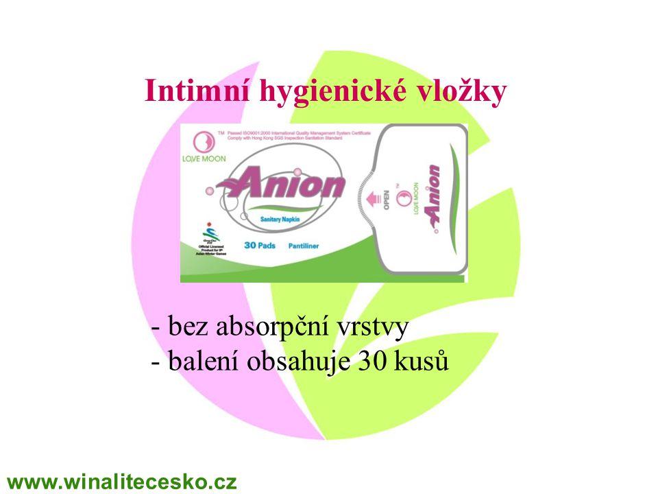 Intimní hygienické vložky - bez absorpční vrstvy - balení obsahuje 30 kusů www.winalitecesko.cz