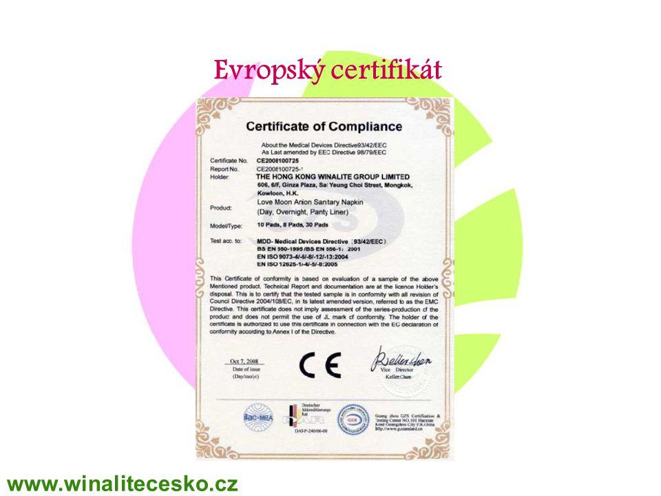 Evropský certifikát www.winalitecesko.cz