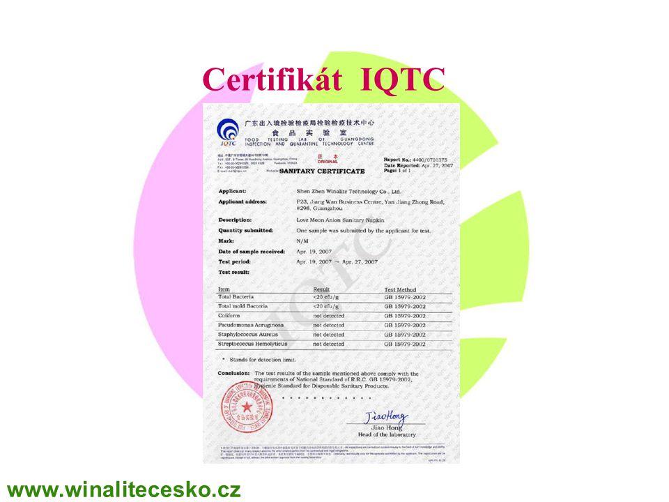 Certifikát IQTC www.winalitecesko.cz