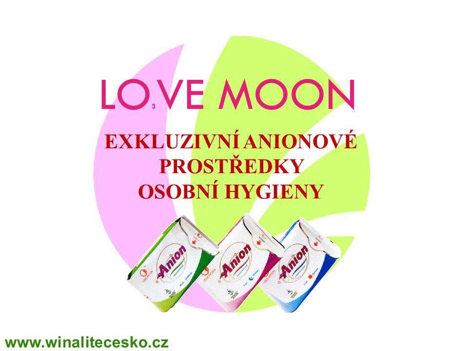 LO 3 VE MOON EXKLUZIVNÍ ANIONOVÉ PROSTŘEDKY OSOBNÍ HYGIENY www.winalitecesko.cz