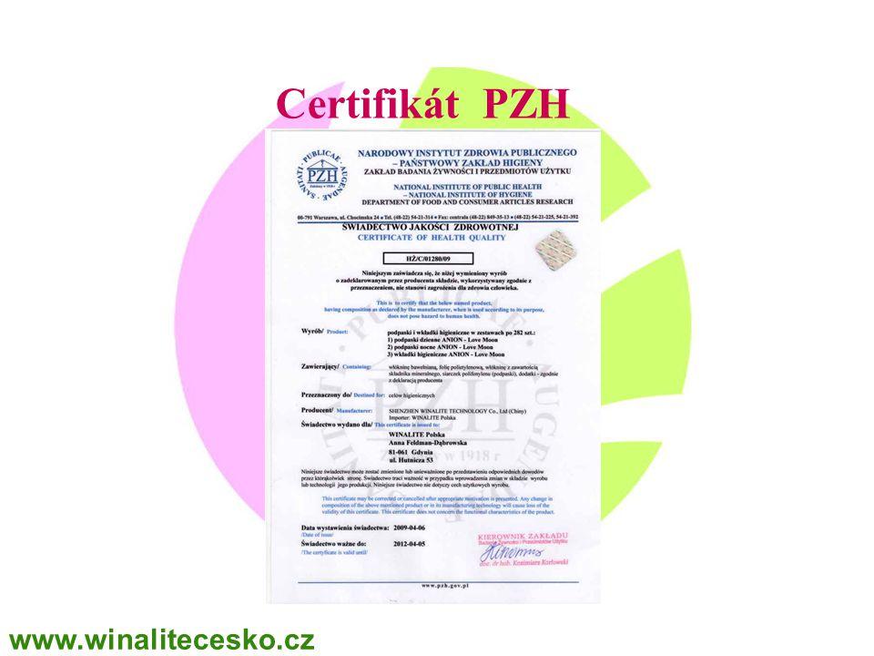 Certifikát PZH www.winalitecesko.cz