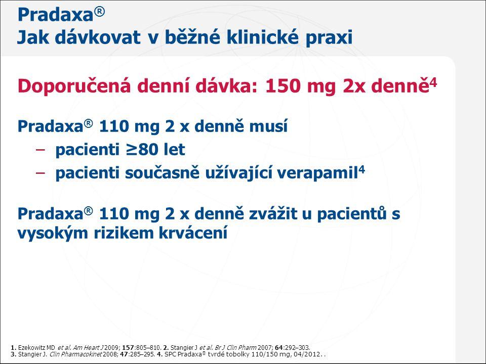 Pradaxa ® - JAK NA TO Akutní chirurgický výkon Pradaxa ® SPC 04/2012; Hankey AG, Eikelboom JW.