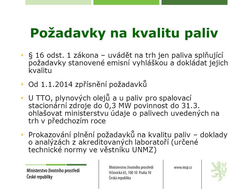 Požadavky na kvalitu paliv 2.1.Požadavky na kvalitu pevných paliv 2.1.1.
