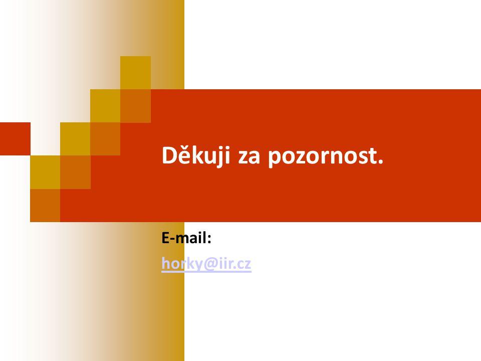 Děkuji za pozornost. E-mail: horky@iir.cz