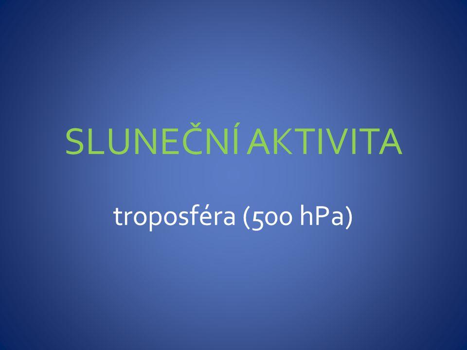 SLUNEČNÍ AKTIVITA troposféra (500 hPa)